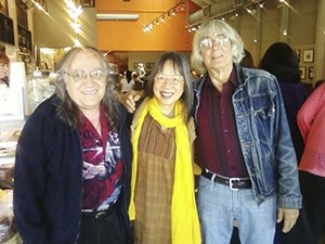 Jack Foley, Clara Hsu and Ivan Arguelles at Saul's, 06-05-13
